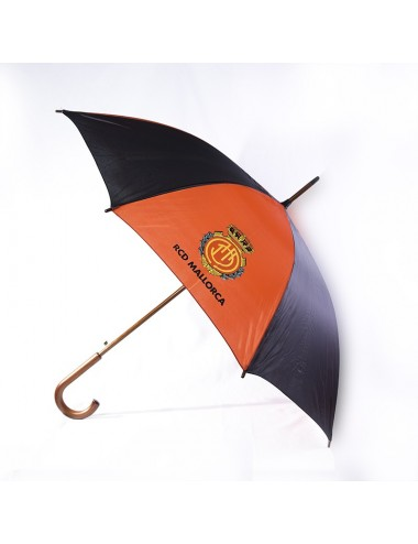 Large Umbrella, with red and black fabric and the RCD Crest